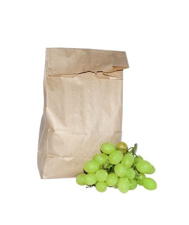 Lunch in a bag with grapes