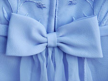 Large bright blue dress bow photo