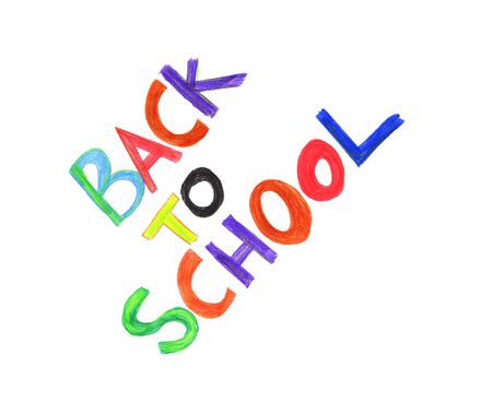 school border: Illustration of a back to school sign Stock Photo