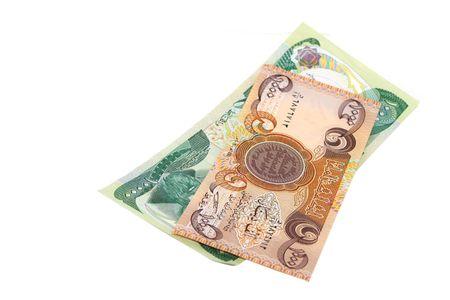 iraq money: Money from Iraq isolated on white Stock Photo