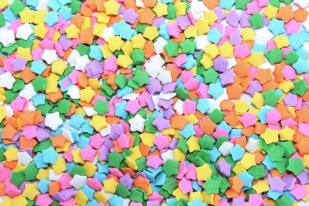 Colorful star sprinkles for background