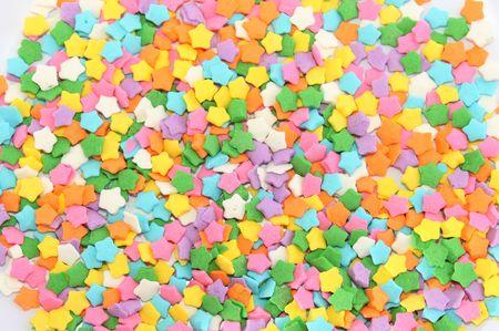 Multucolored star sprinkles for background