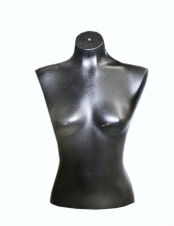 Black bust with white space photo