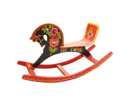 wood cut: Russian rocking horse