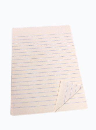 Blank white notebook isolated on white background Imagens