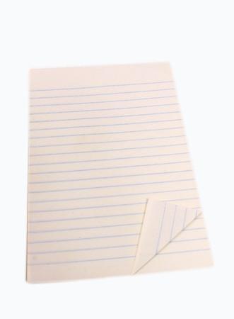 Blank white notebook isolated on white background Stock Photo