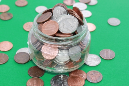 Money in a jar Stock Photo