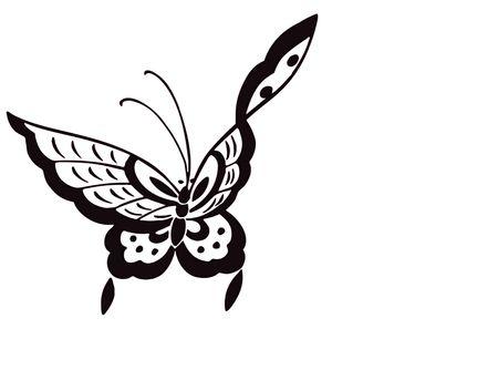 butterfly stationary: butterfly illustration
