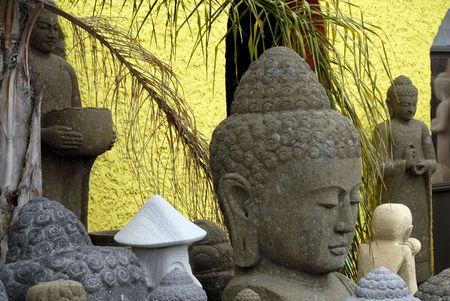 awakened: Asian statues Stock Photo
