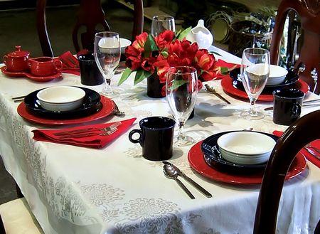Festlichen Tisch Einstellung