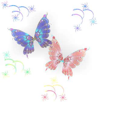 BUTTERFLIES illustration Stock Illustration - 2751035