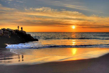 Sunset Beach, Australien  Lizenzfreie Bilder