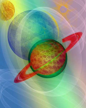 Abstract Space scene illustration Stock Illustration - 5068455