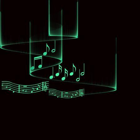 whirling: Music Illustration