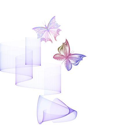 Butterflies Illustration Stock Illustration - 5923338