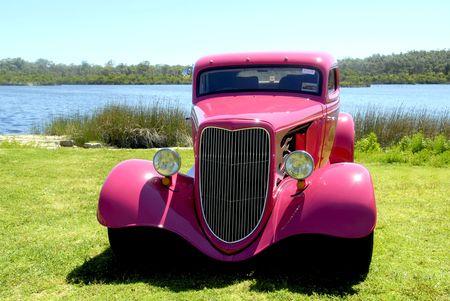 custom car: Hot Rod Stock Photo