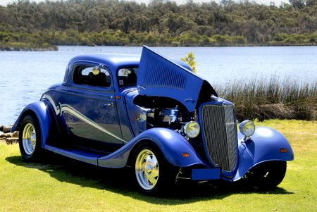street rod: Hot Rod Stock Photo