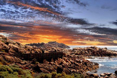 Sunset Coast Stock Photo - 6730911