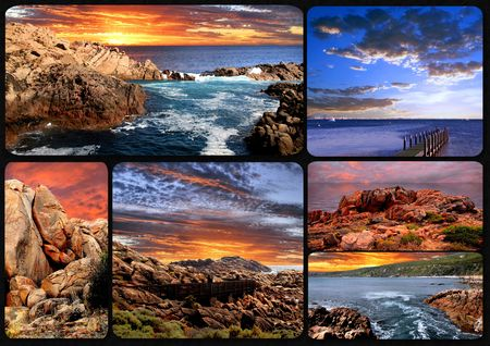 Sunset Collage Stock Photo - 7179787