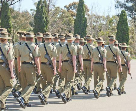 armies: Australian Army Stock Photo
