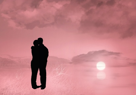 Couple hugging Stock Photo - 8539624