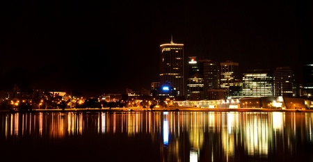 View of Perth Western Australia at night photo
