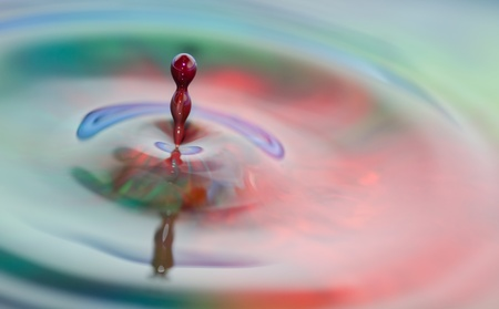 Colorful Liquid Drops photo