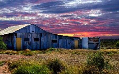 Barn at Sunset photo