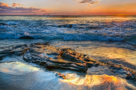 Sunset beach Perth Western Australia photo