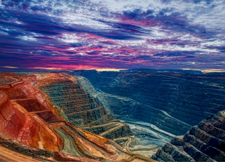 australia: Super Pit Kalgoorlie Western Australia Stock Photo