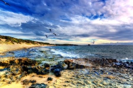 peron: Point Peron Sunset , Perth Australia Stock Photo