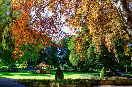Autumn Hyde Park Perth Western Australia Stock Photo