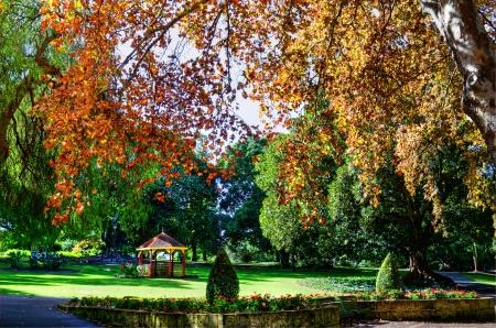 hyde: Autumn Hyde Park Perth Western Australia Stock Photo