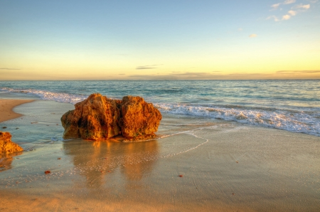 australia landscape: Sunset Beach , Perth Australia Stock Photo
