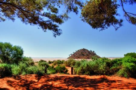 western australia: Lake Ballard- salt pan  in the northern goldfields  desert region  of Western Australia