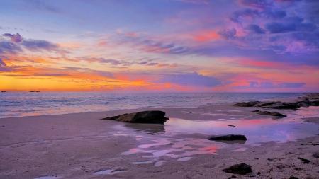 Sunset Landscape Perth  Australia Stock Photo