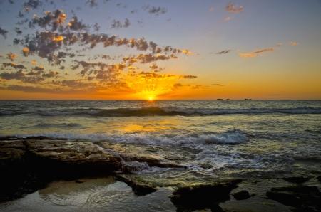 Brighton Beach sunset - Perth Western Australia photo