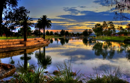 australia landscape: Sunrise in the Park Perth