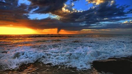 Sunset beach Perth photo
