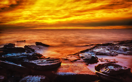 Sunset beach Western Australia photo