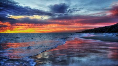 perth: Amazing  Perth Sunset beach Stock Photo