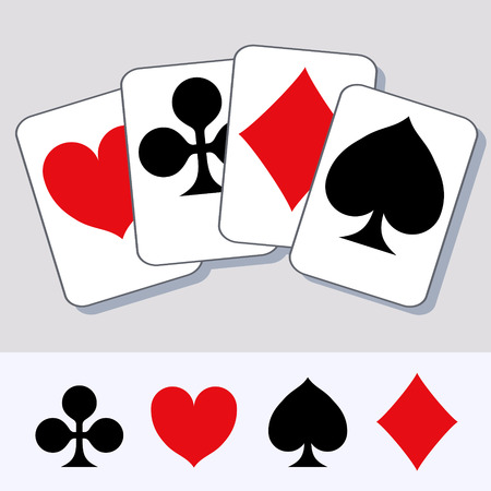 supplemental: Playing card suits. Design for t-shirts, ads etc., by its Supplemental elements.