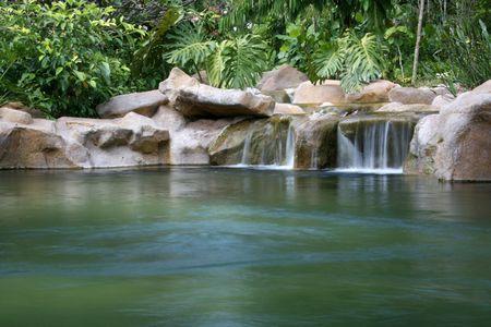 botanic: Waterfall - Botanical Gardens, Singapore Stock Photo