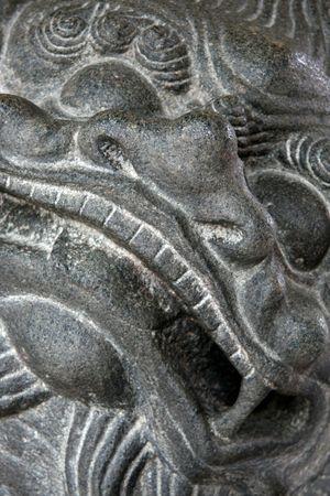 jarret: Ancient Sculpture - Thian Hock Keng Temple, Singapour Banque d'images