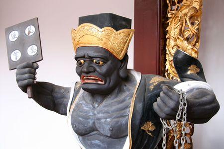 jarret: Dieu chinois - Tian Hock Keng Temple, Singapour Banque d'images