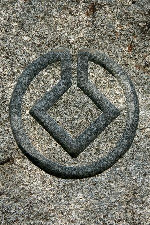 Logotipo de la UNESCO, la piedra signo  Foto de archivo - 3548696