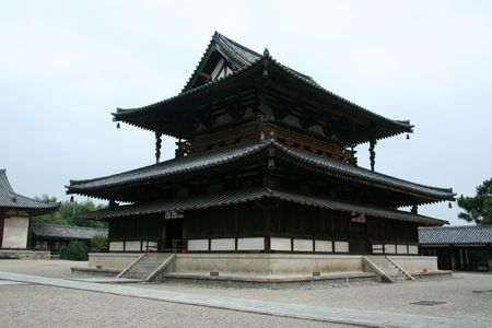 buddhist structures: Horyuji Temple, Japan Editorial