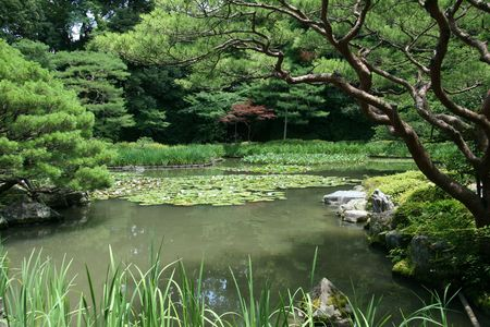 Garden - Heian Temple, Kyoto, Japan photo