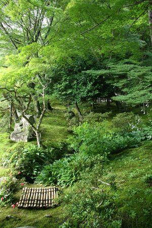 Jardin japonais - Ginkakuji Temple, Kyoto, Japon Banque d'images - 3551904
