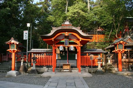 buddhist structures: Fushimi Inari, Kyoto, Japan Stock Photo